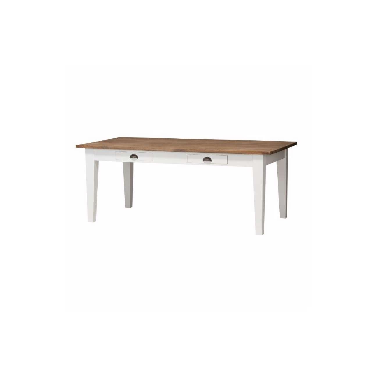 Stůl Milton white&natural 200x100x78cm