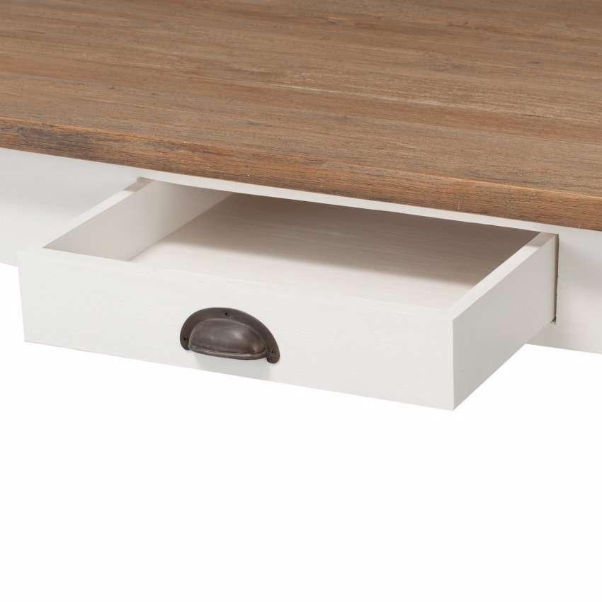 Stół Milton white&natural 200x100x78cm 200x100x78cm