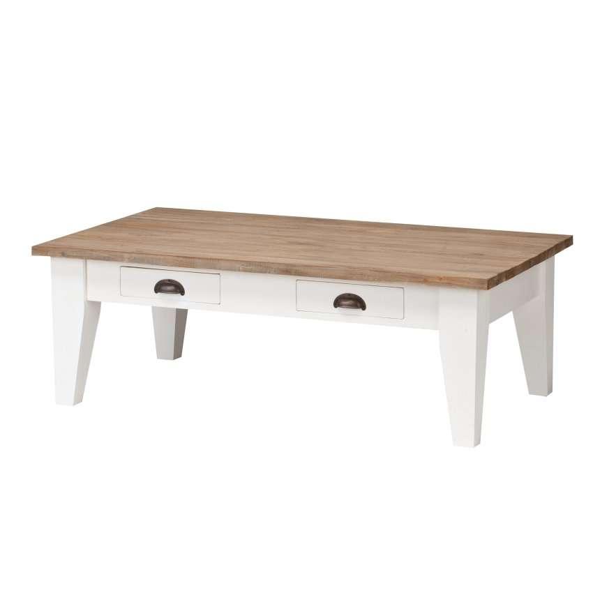 Couchtisch Milton white&natural 130x75x45cm, 130x75x45cm