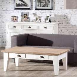 Couchtisch Milton white&natural 130x75x45cm