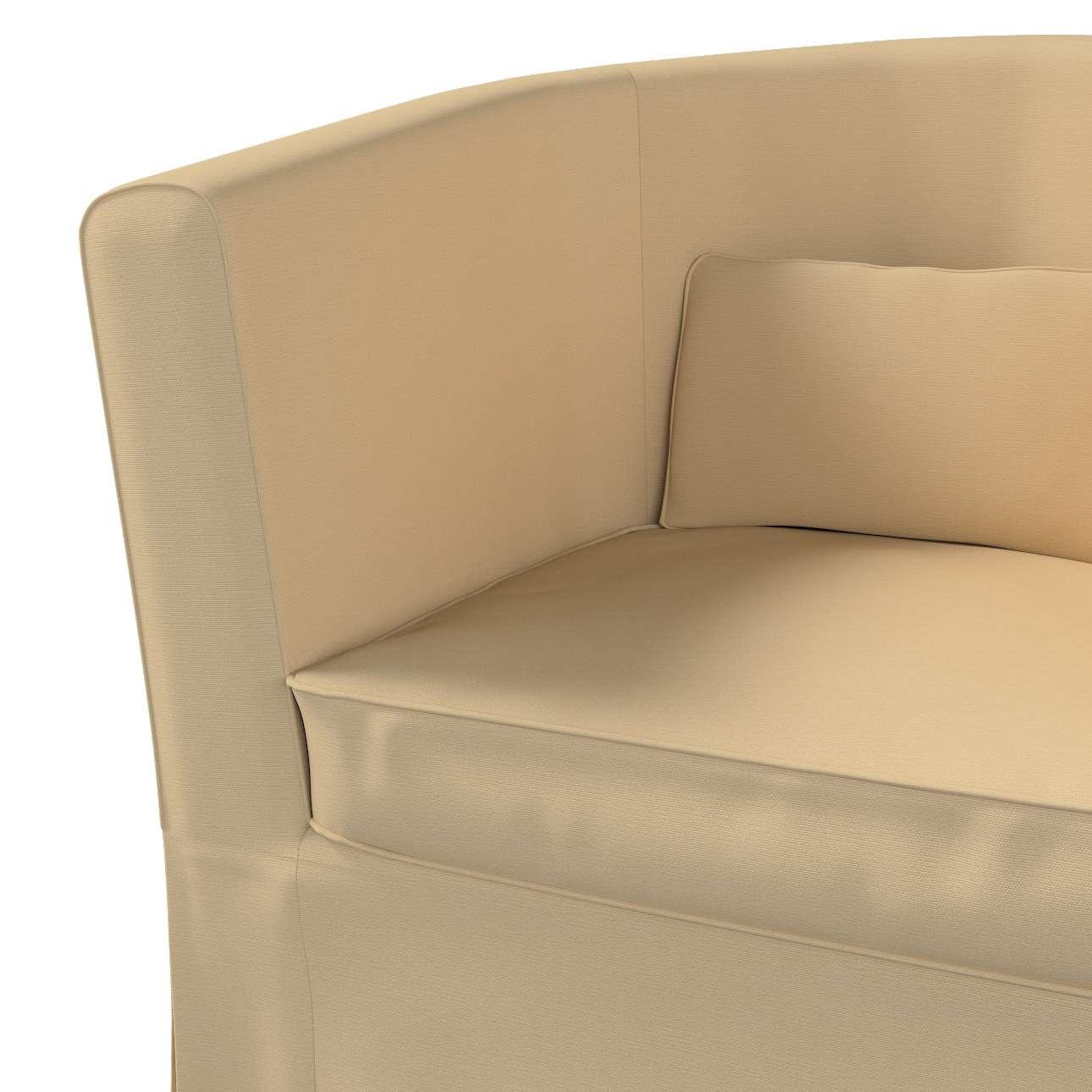 Pokrowiec na fotel Ektorp Tullsta w kolekcji Cotton Panama, tkanina: 702-01