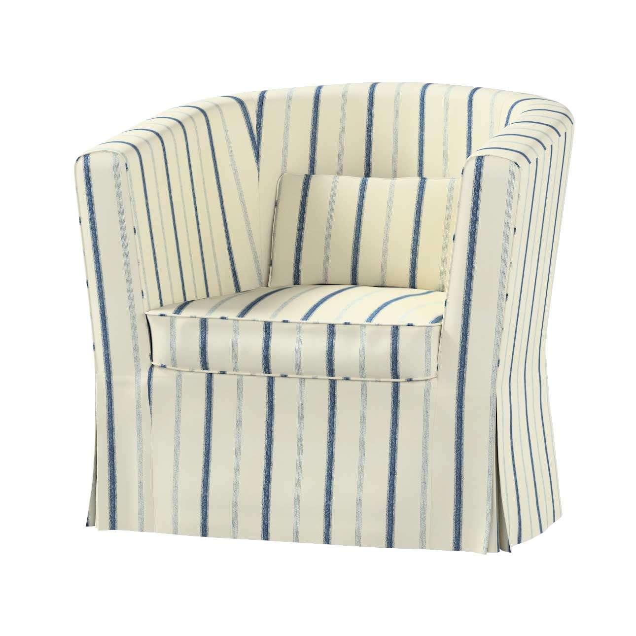 Ektorp Tullsta chair cover Ektorp Tullsta armchair cover in collection Avinon fabric 129-  sc 1 st  Dekoria & Ektorp Tullsta chair cover blue stripes ivory background Ektorp ...