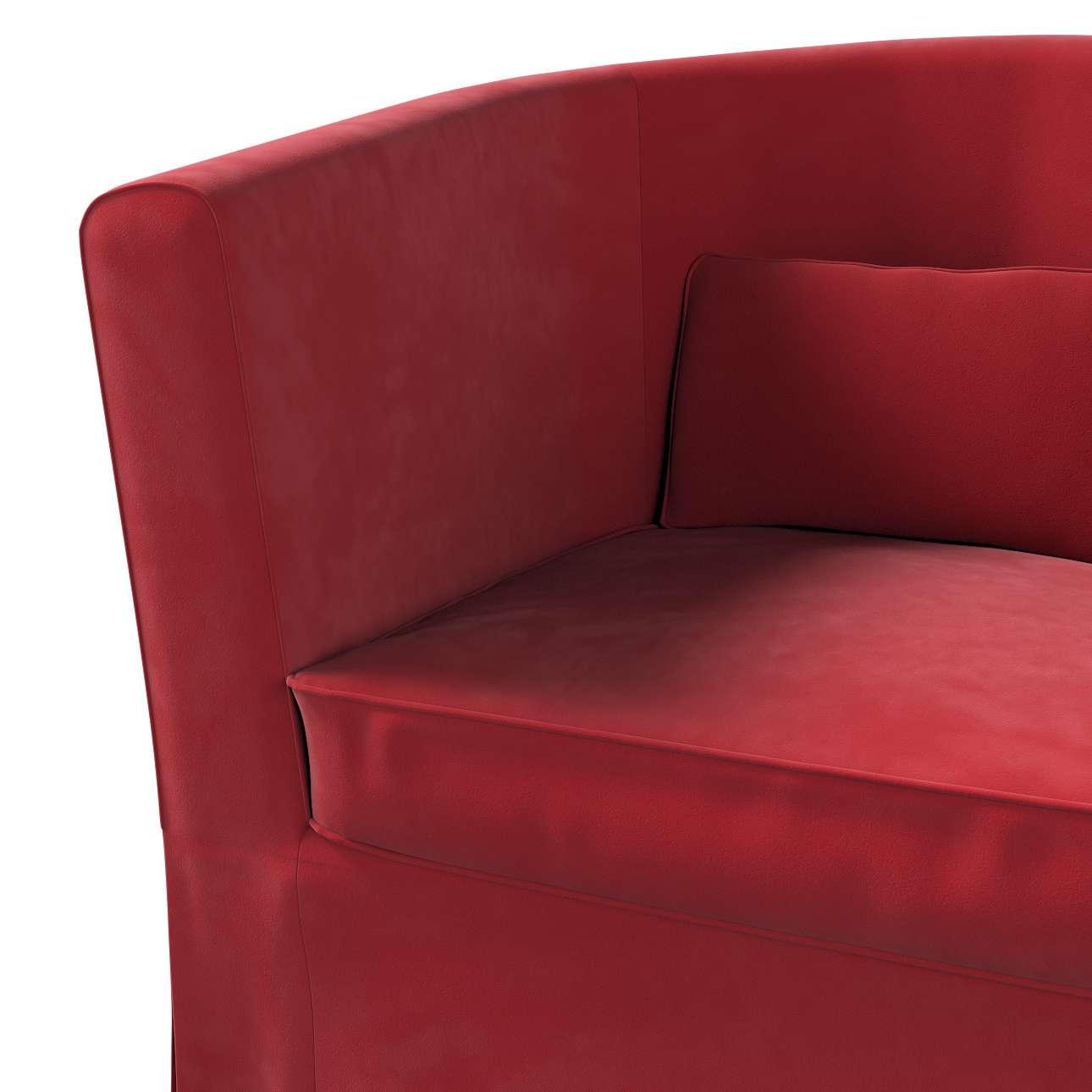 Pokrowiec na fotel Ektorp Tullsta w kolekcji Velvet, tkanina: 704-15