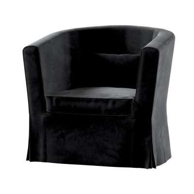 Pokrowiec na fotel Ektorp Tullsta 704-17 głęboka czerń Kolekcja Velvet