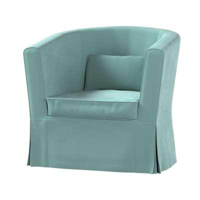 Pokrowiec na fotel Ektorp Tullsta 704-18 szara mięta Kolekcja Velvet