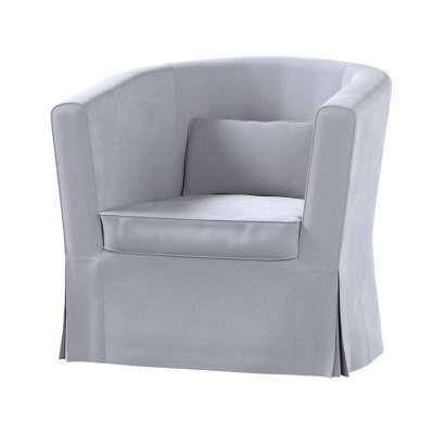 Pokrowiec na fotel Ektorp Tullsta 704-24 srebrzysty szary Kolekcja Velvet