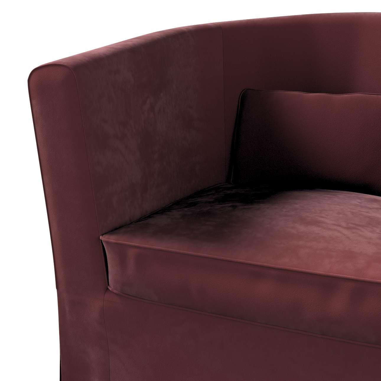 Pokrowiec na fotel Ektorp Tullsta w kolekcji Velvet, tkanina: 704-26