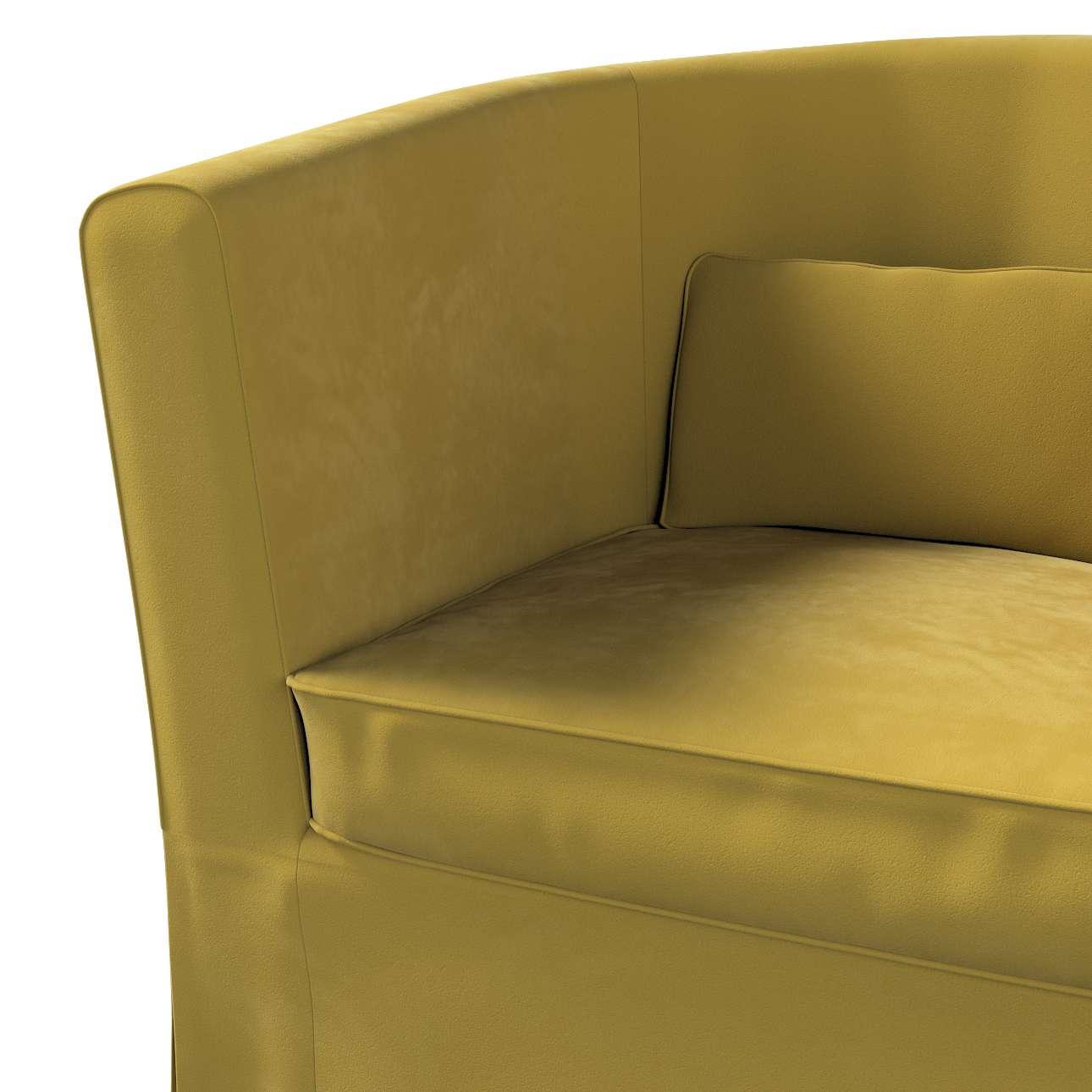 Pokrowiec na fotel Ektorp Tullsta w kolekcji Velvet, tkanina: 704-27