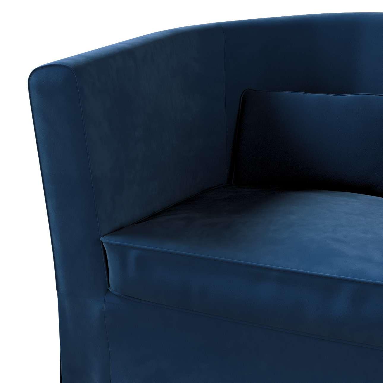 Pokrowiec na fotel Ektorp Tullsta w kolekcji Velvet, tkanina: 704-29