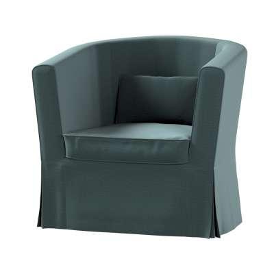 Pokrowiec na fotel Ektorp Tullsta 705-36 zgaszony szmaragd - welwet Kolekcja Ingrid