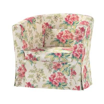 Pokrowiec na fotel Ektorp Tullsta 143-40 różowe kwiaty na tle ecru Kolekcja Londres