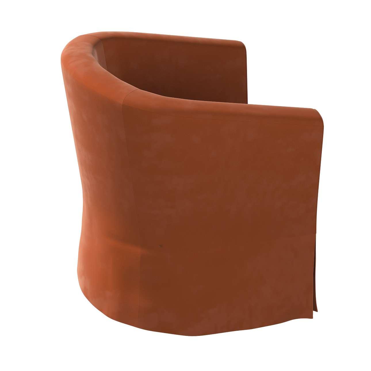 Pokrowiec na fotel Ektorp Tullsta w kolekcji Velvet, tkanina: 704-33
