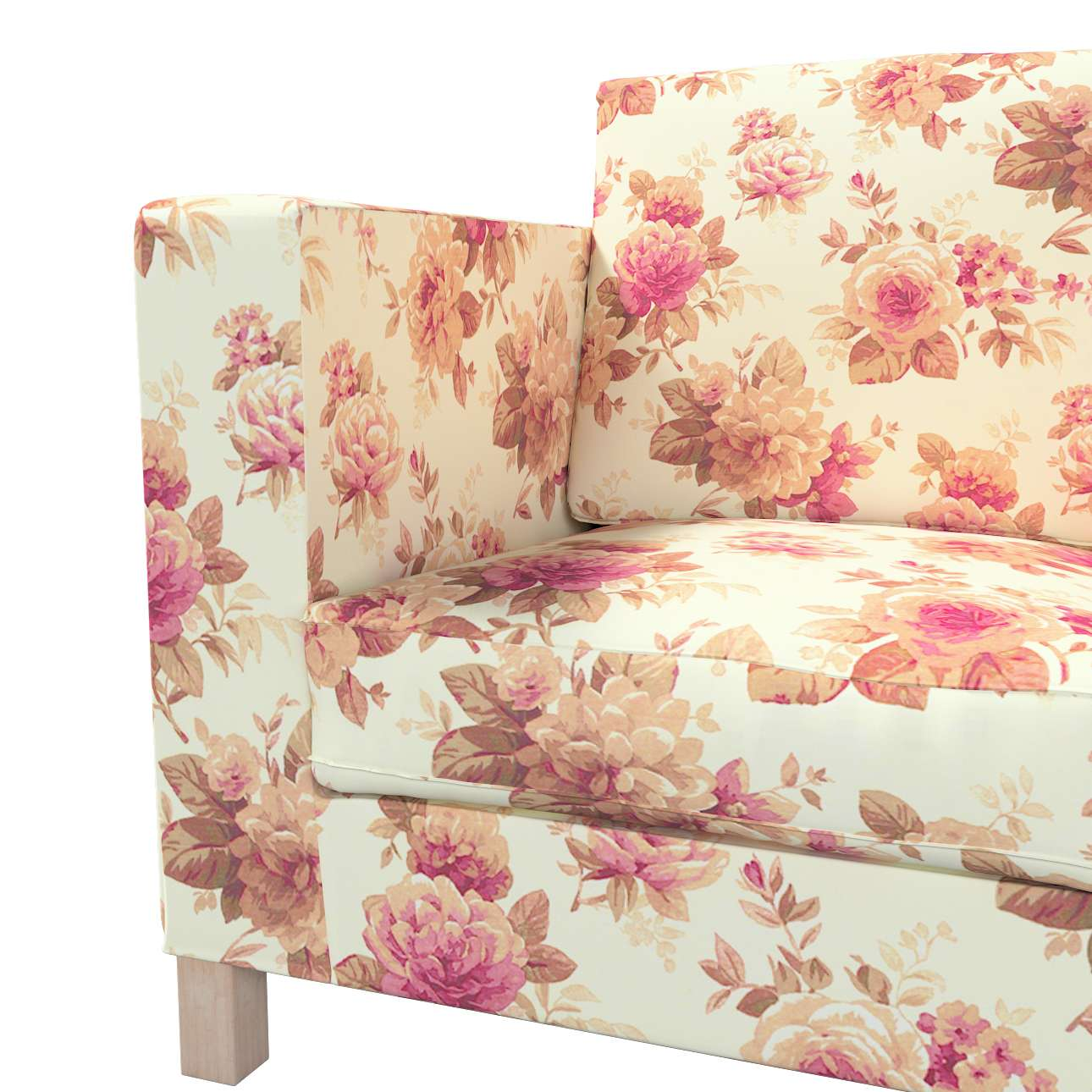 Karlanda klädsel <br>3-sits soffa - kort klädsel i kollektionen Londres, Tyg: 141-06
