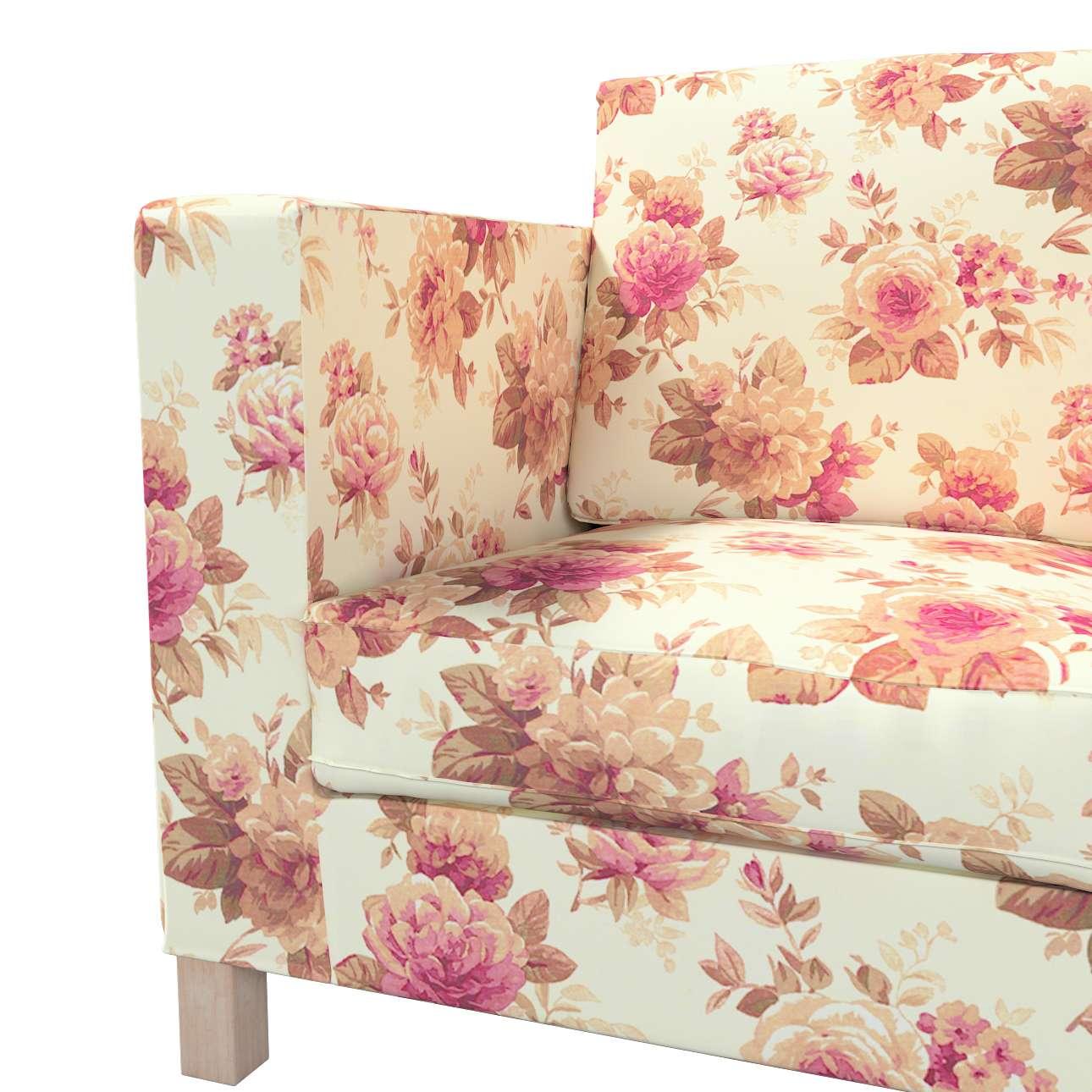 Pokrowiec na sofę Karlanda 3-osobową nierozkładaną, krótki w kolekcji Londres, tkanina: 141-06