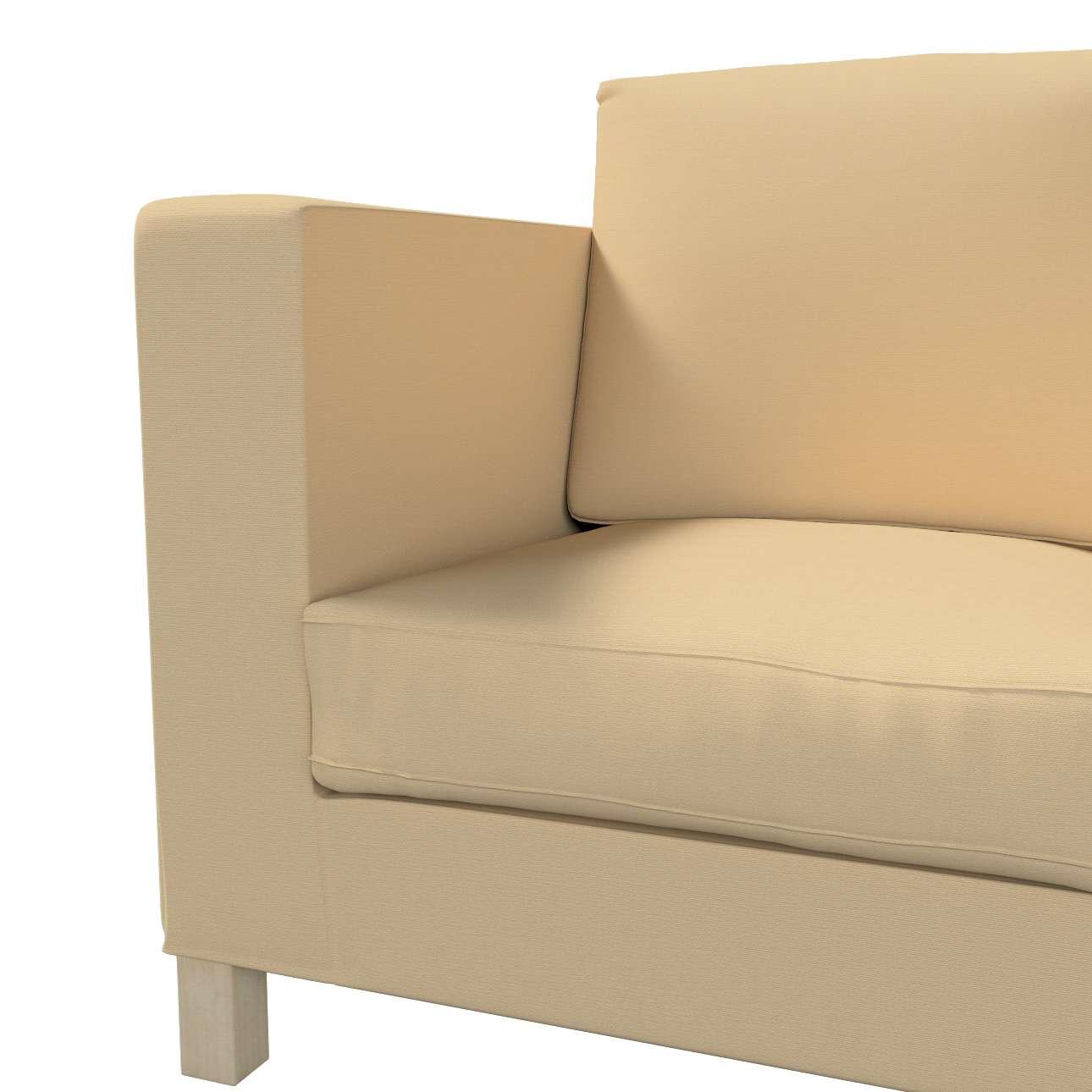 Bezug für Karlanda 3-Sitzer Sofa nicht ausklappbar, kurz von der Kollektion Cotton Panama, Stoff: 702-01