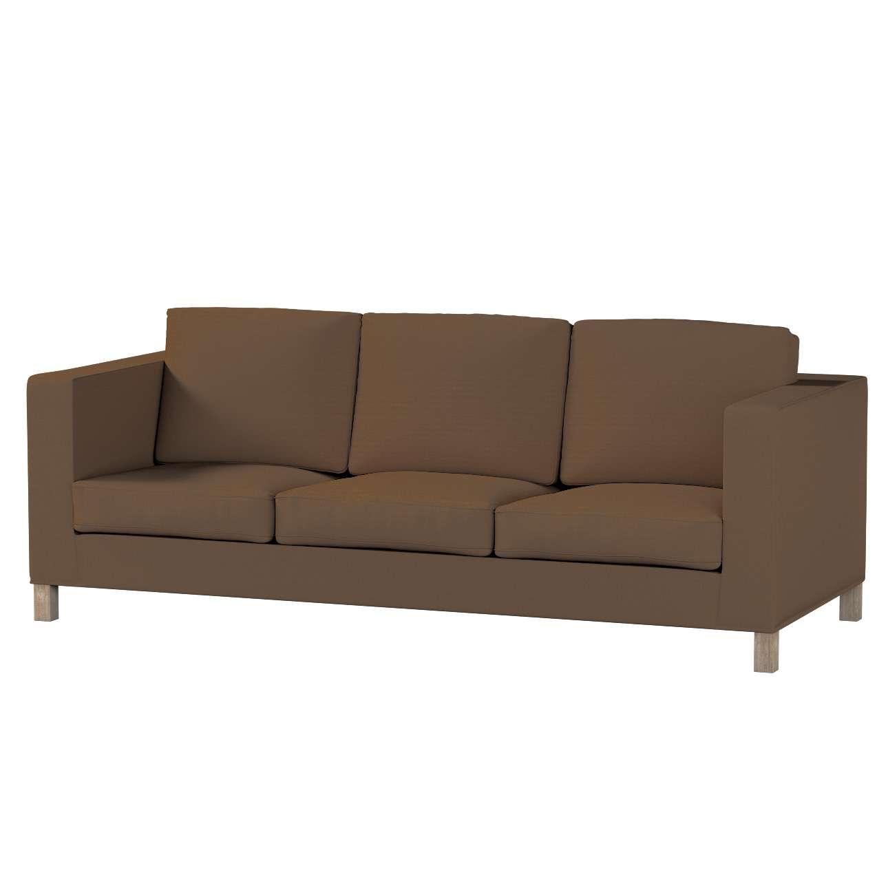 Pokrowiec na sofę Karlanda 3-osobową nierozkładaną, krótki Sofa Karlanda 3-os w kolekcji Cotton Panama, tkanina: 702-02