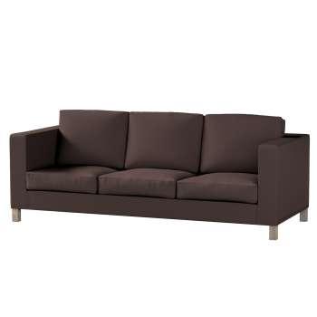 Pokrowiec na sofę Karlanda 3-osobową nierozkładaną, krótki Sofa Karlanda 3-os w kolekcji Cotton Panama, tkanina: 702-03