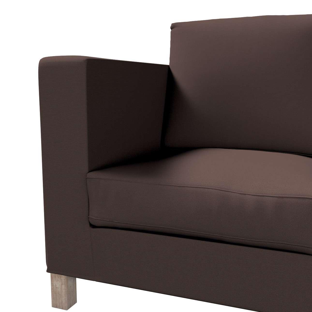 Karlanda klädsel <br>3-sits soffa - kort klädsel i kollektionen Panama Cotton, Tyg: 702-03