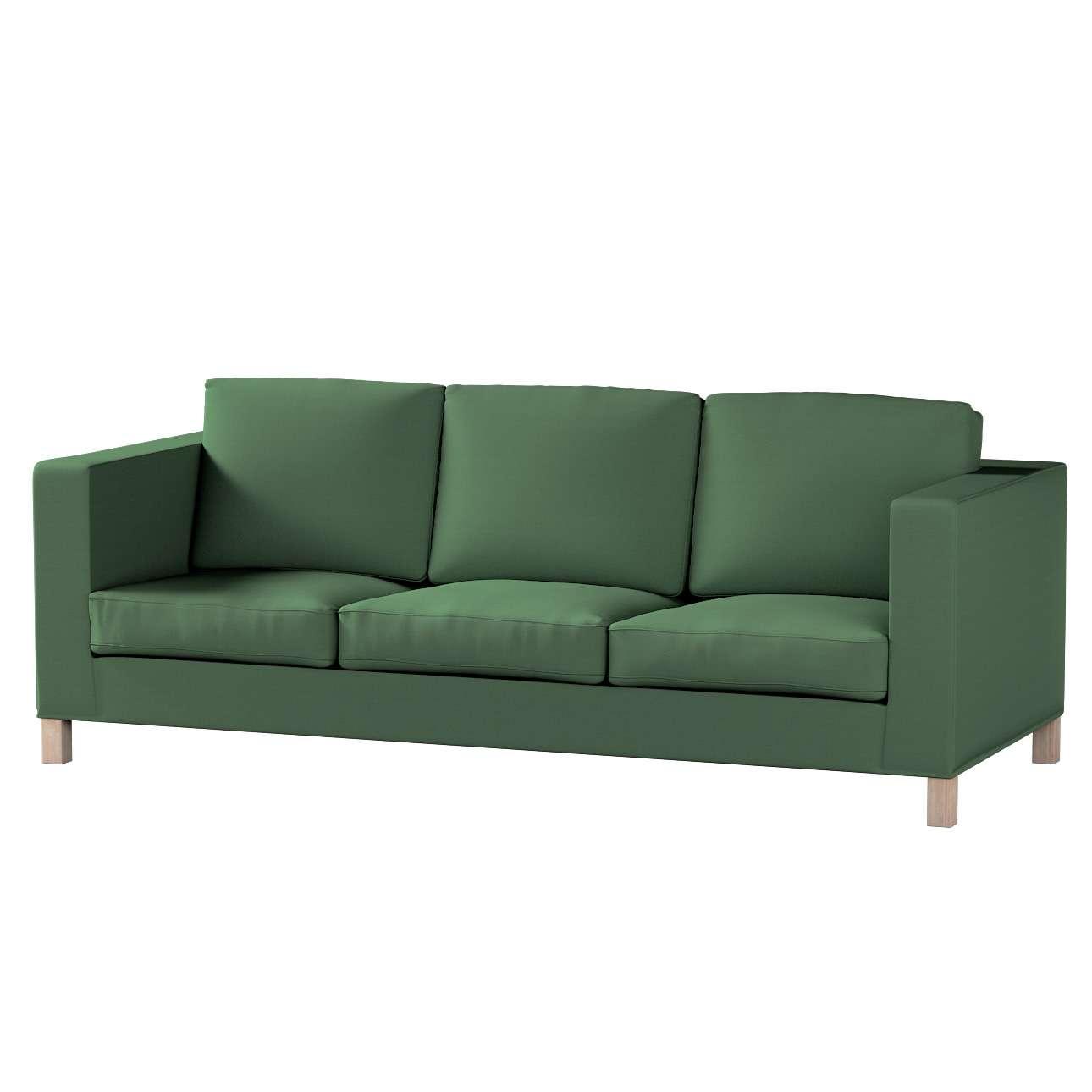 Pokrowiec na sofę Karlanda 3-osobową nierozkładaną, krótki Sofa Karlanda 3-os w kolekcji Cotton Panama, tkanina: 702-06