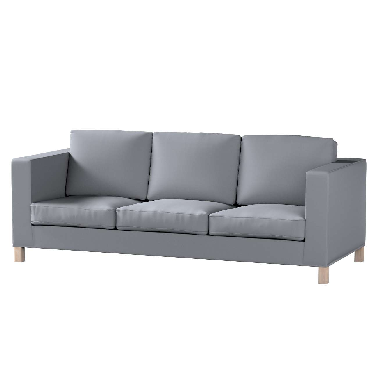 Bezug für Karlanda 3-Sitzer Sofa nicht ausklappbar, kurz von der Kollektion Cotton Panama, Stoff: 702-07