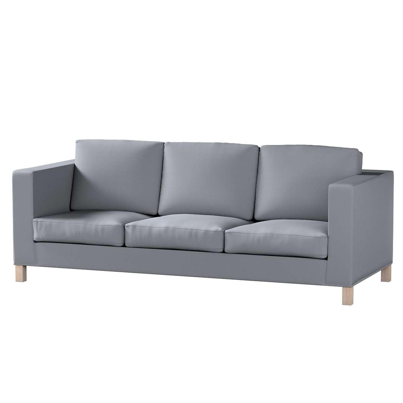 Karlanda 3-Sitzer  Sofabezug nicht ausklappbar kurz Karlanda 3-Sitzer, kurz von der Kollektion Cotton Panama, Stoff: 702-07