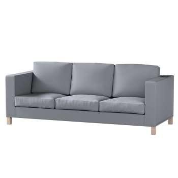 Pokrowiec na sofę Karlanda 3-osobową nierozkładaną, krótki Sofa Karlanda 3-os w kolekcji Cotton Panama, tkanina: 702-07