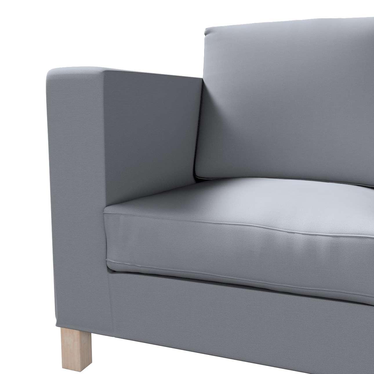 Pokrowiec na sofę Karlanda 3-osobową nierozkładaną, krótki w kolekcji Cotton Panama, tkanina: 702-07