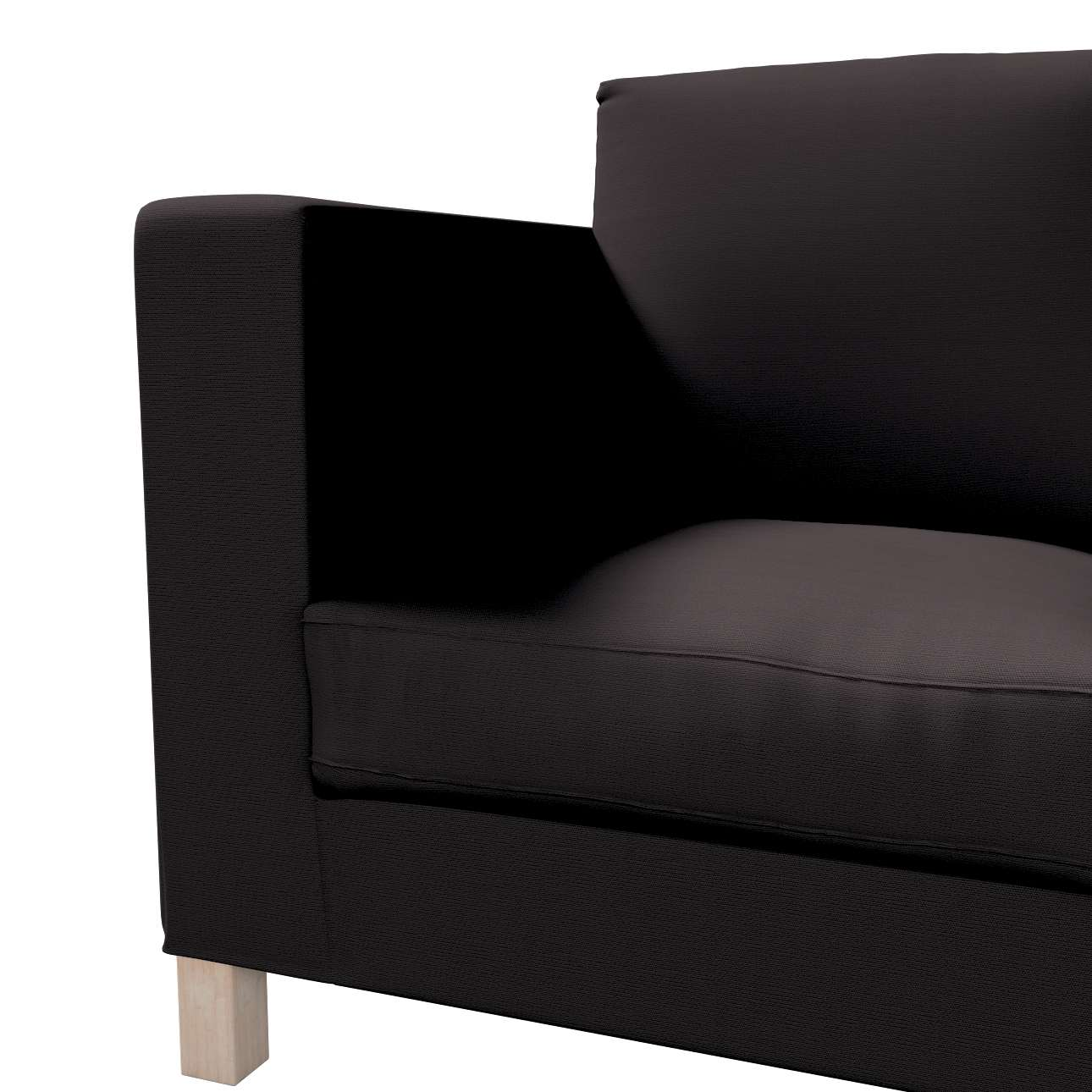 Bezug für Karlanda 3-Sitzer Sofa nicht ausklappbar, kurz von der Kollektion Cotton Panama, Stoff: 702-08