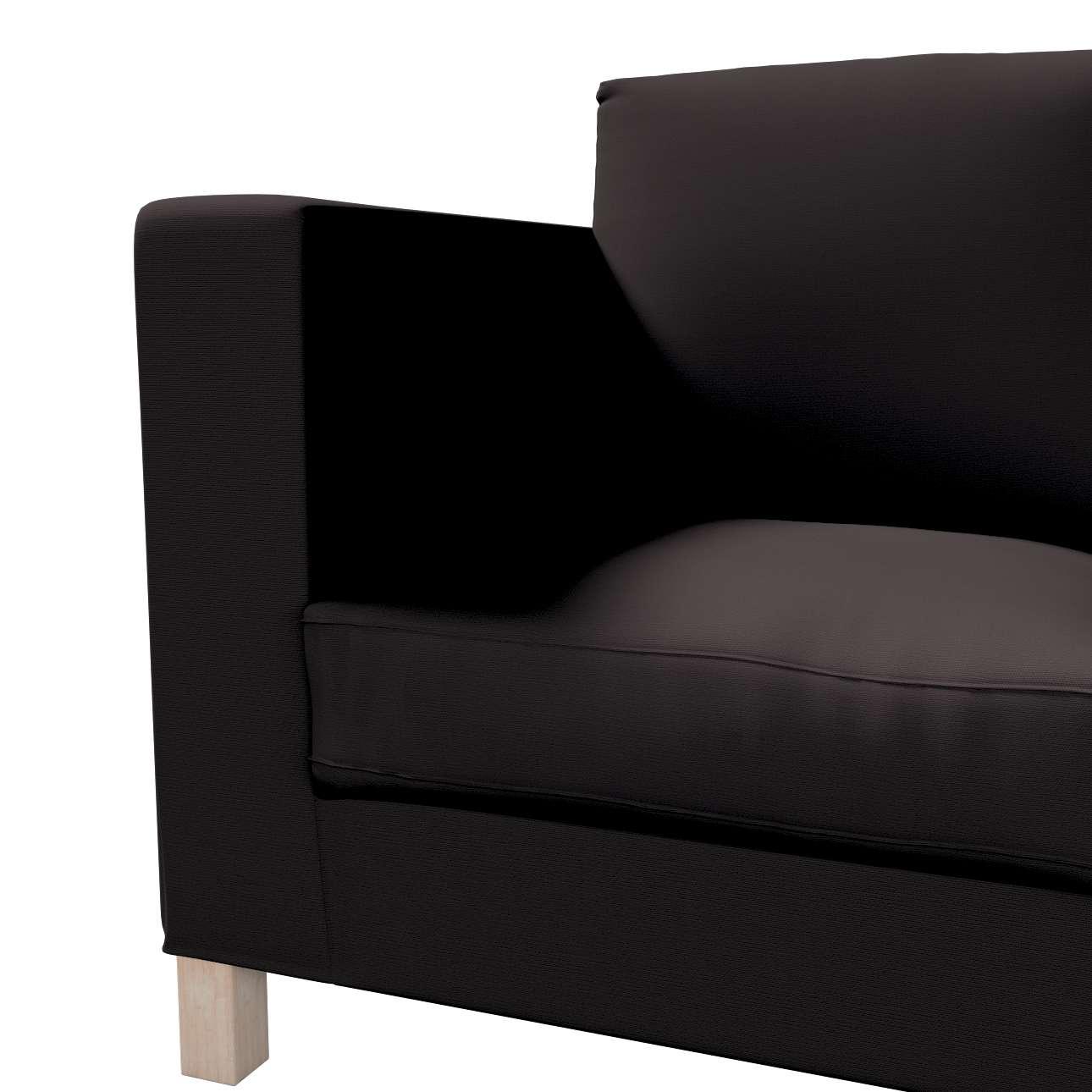 Bezug für Karlanda 3-Sitzer Sofa nicht ausklappbar, kurz von der Kollektion Cotton Panama, Stoff: 702-09