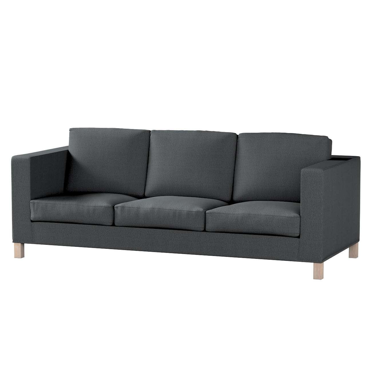 Pokrowiec na sofę Karlanda 3-osobową nierozkładaną, krótki Sofa Karlanda 3-os w kolekcji Chenille, tkanina: 702-20