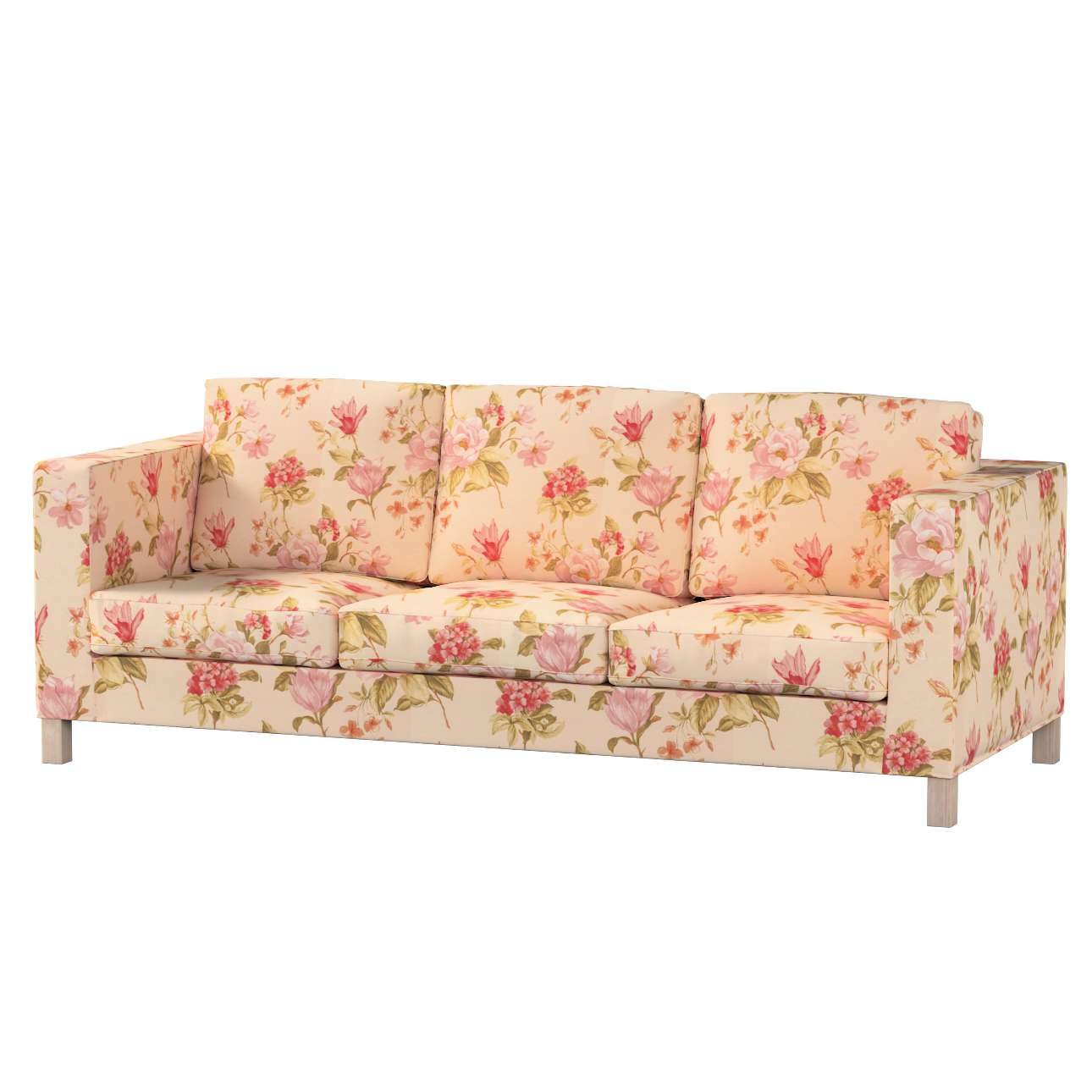 Pokrowiec na sofę Karlanda 3-osobową nierozkładaną, krótki Sofa Karlanda 3-os w kolekcji Londres, tkanina: 123-05