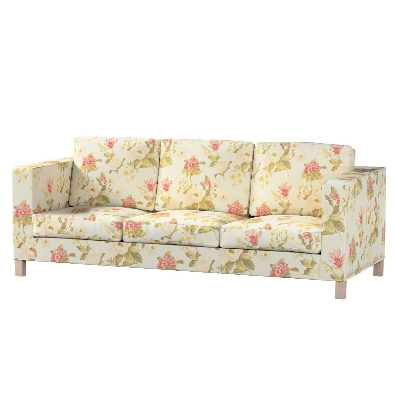 Pokrowiec na sofę Karlanda 3-osobową nierozkładaną, krótki Sofa Karlanda 3-os w kolekcji Londres, tkanina: 123-65
