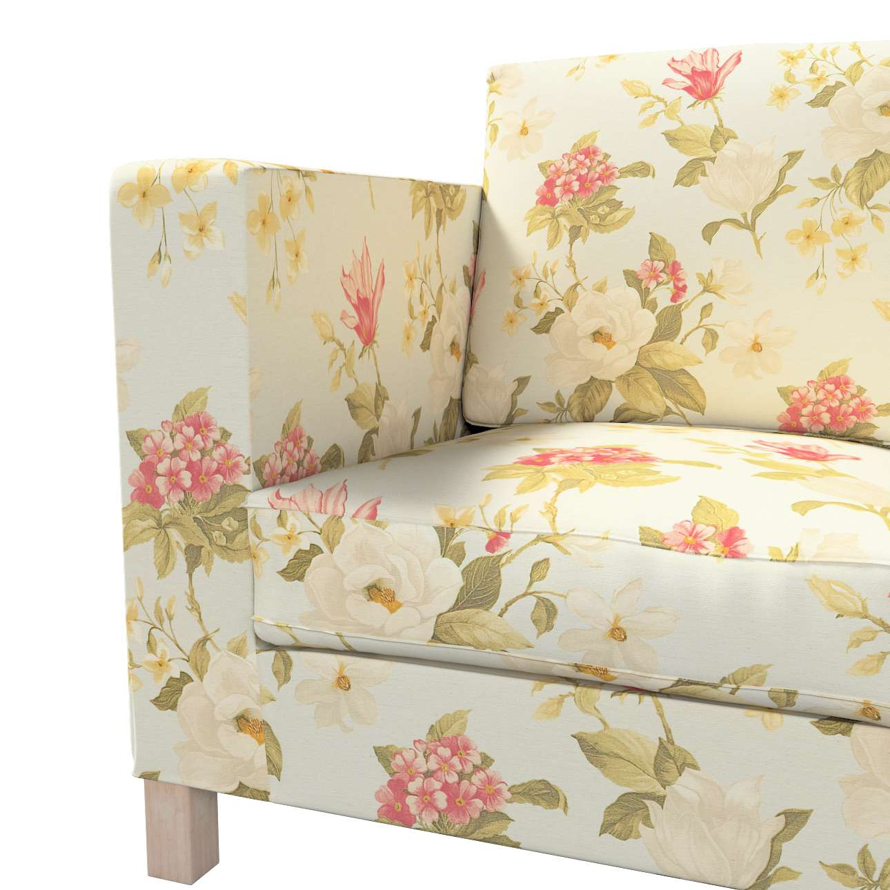 Karlanda klädsel <br>3-sits soffa - kort klädsel i kollektionen Londres, Tyg: 123-65