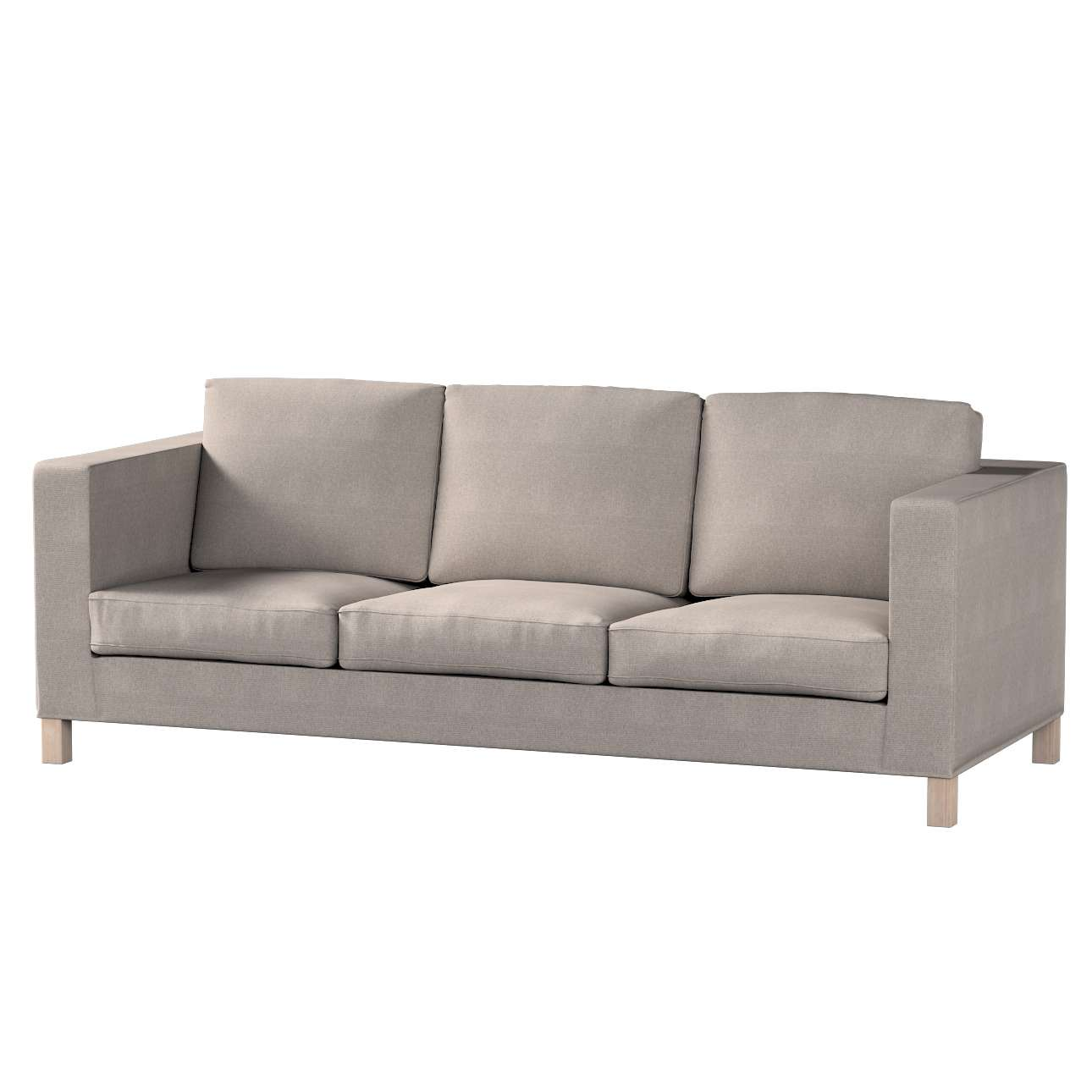Bezug für Karlanda 3-Sitzer Sofa nicht ausklappbar, kurz von der Kollektion Etna, Stoff: 705-09