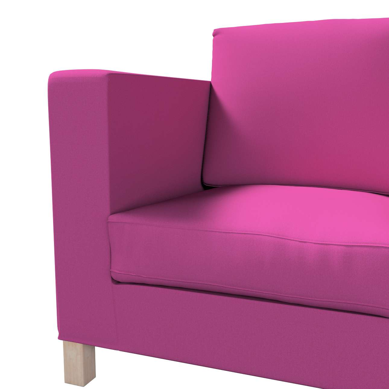 Bezug für Karlanda 3-Sitzer Sofa nicht ausklappbar, kurz von der Kollektion Etna, Stoff: 705-23