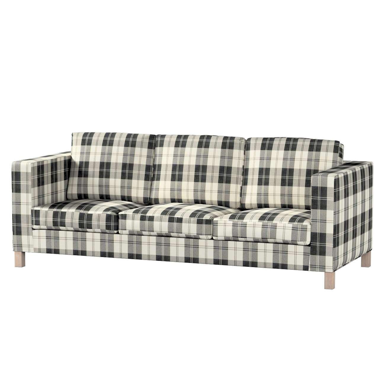 Pokrowiec na sofę Karlanda 3-osobową nierozkładaną, krótki Sofa Karlanda 3-os w kolekcji Edinburgh, tkanina: 115-74