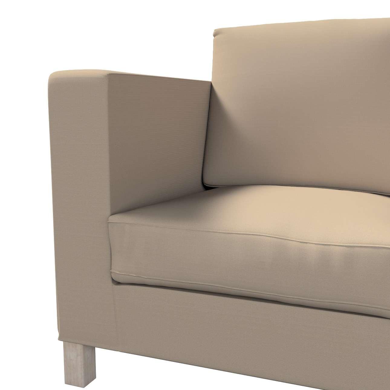 Pokrowiec na sofę Karlanda 3-osobową nierozkładaną, krótki w kolekcji Cotton Panama, tkanina: 702-28