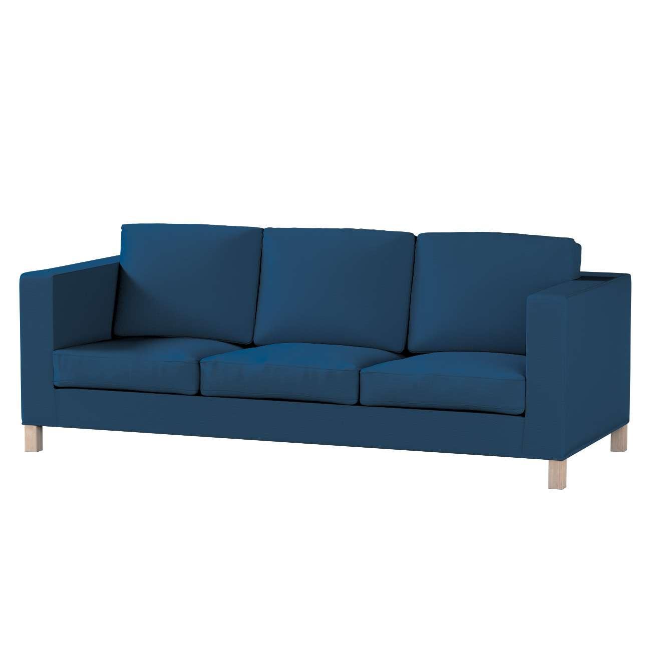 Pokrowiec na sofę Karlanda 3-osobową nierozkładaną, krótki Sofa Karlanda 3-os w kolekcji Cotton Panama, tkanina: 702-30