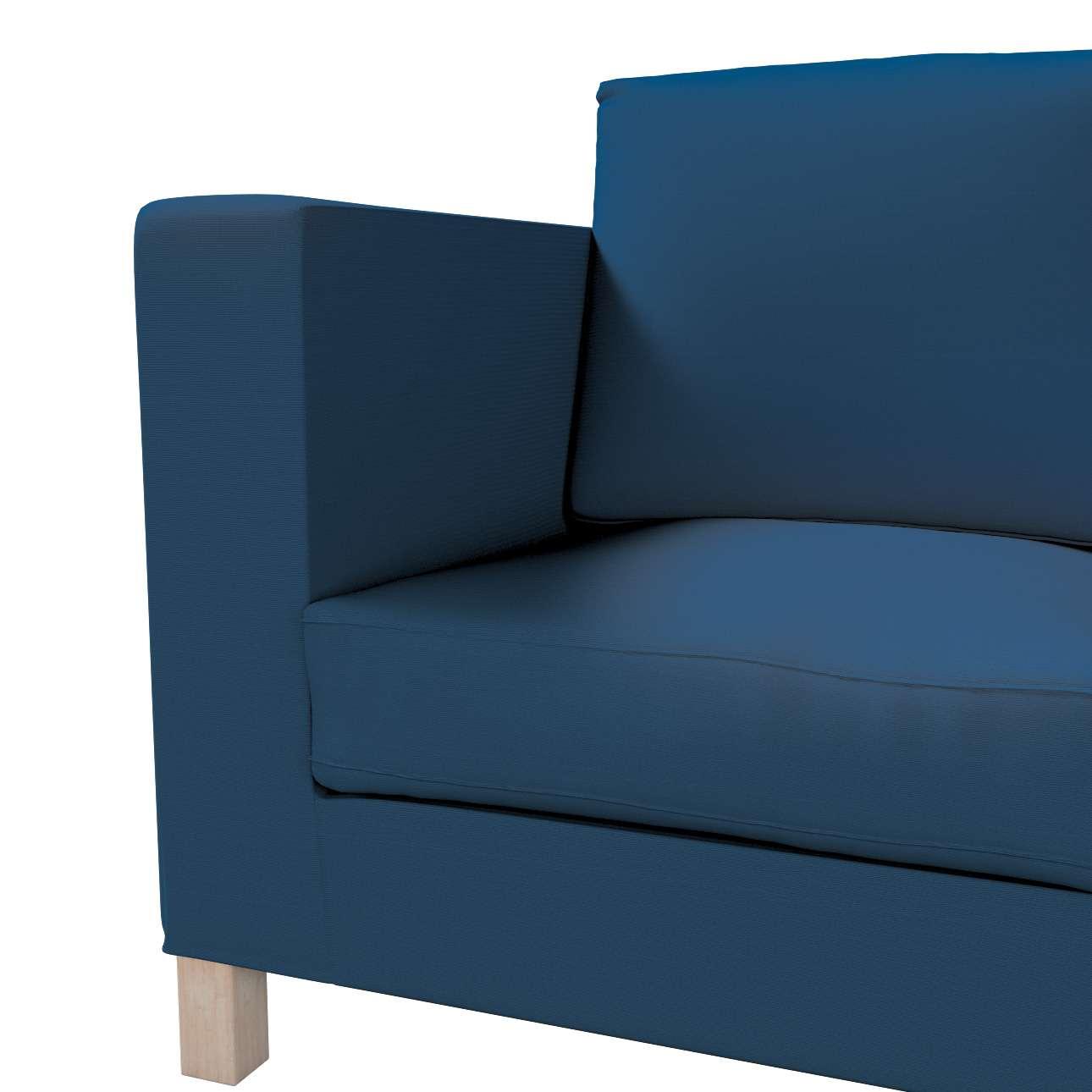 Bezug für Karlanda 3-Sitzer Sofa nicht ausklappbar, kurz von der Kollektion Cotton Panama, Stoff: 702-30
