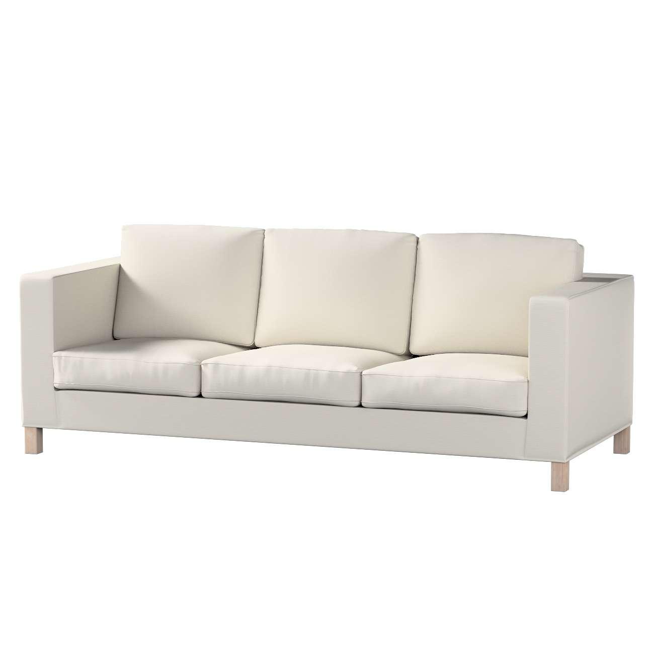 Pokrowiec na sofę Karlanda 3-osobową nierozkładaną, krótki Sofa Karlanda 3-os w kolekcji Cotton Panama, tkanina: 702-31