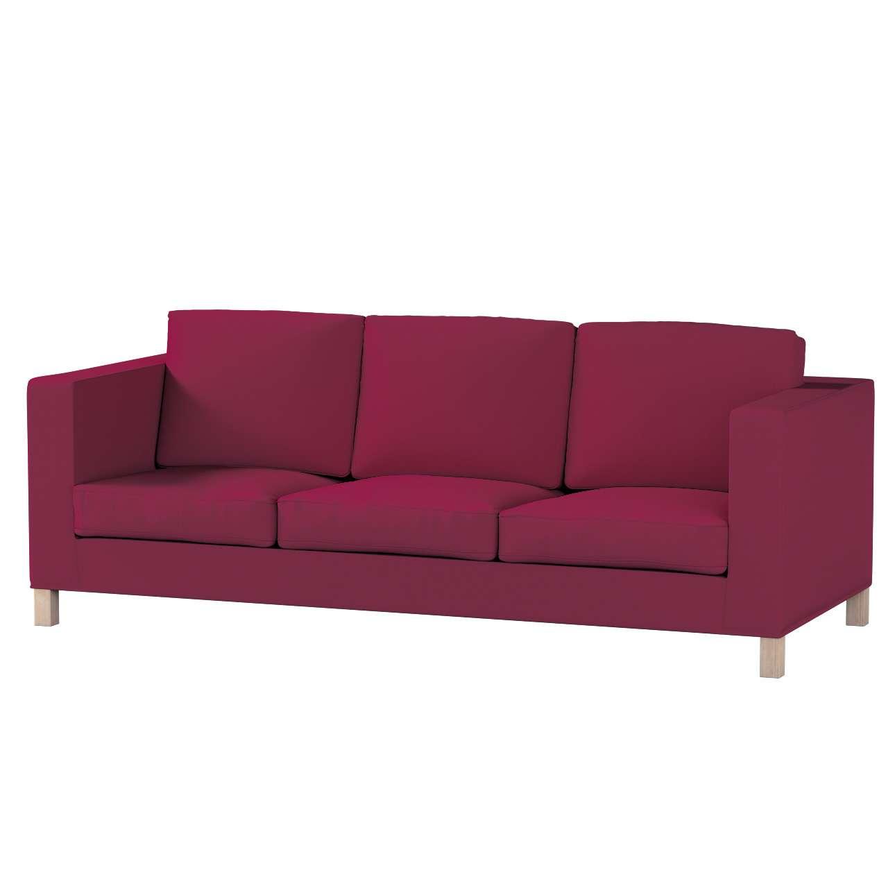 Pokrowiec na sofę Karlanda 3-osobową nierozkładaną, krótki Sofa Karlanda 3-os w kolekcji Cotton Panama, tkanina: 702-32