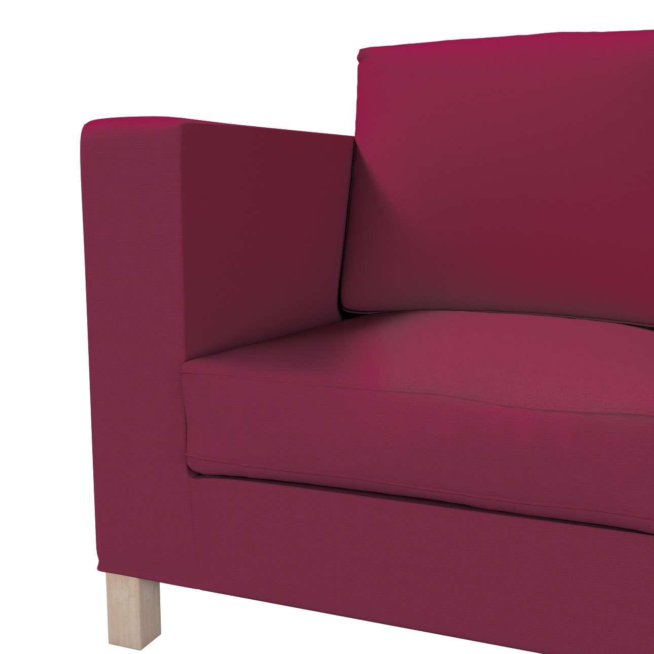 Bezug für Karlanda 3-Sitzer Sofa nicht ausklappbar, kurz von der Kollektion Cotton Panama, Stoff: 702-32