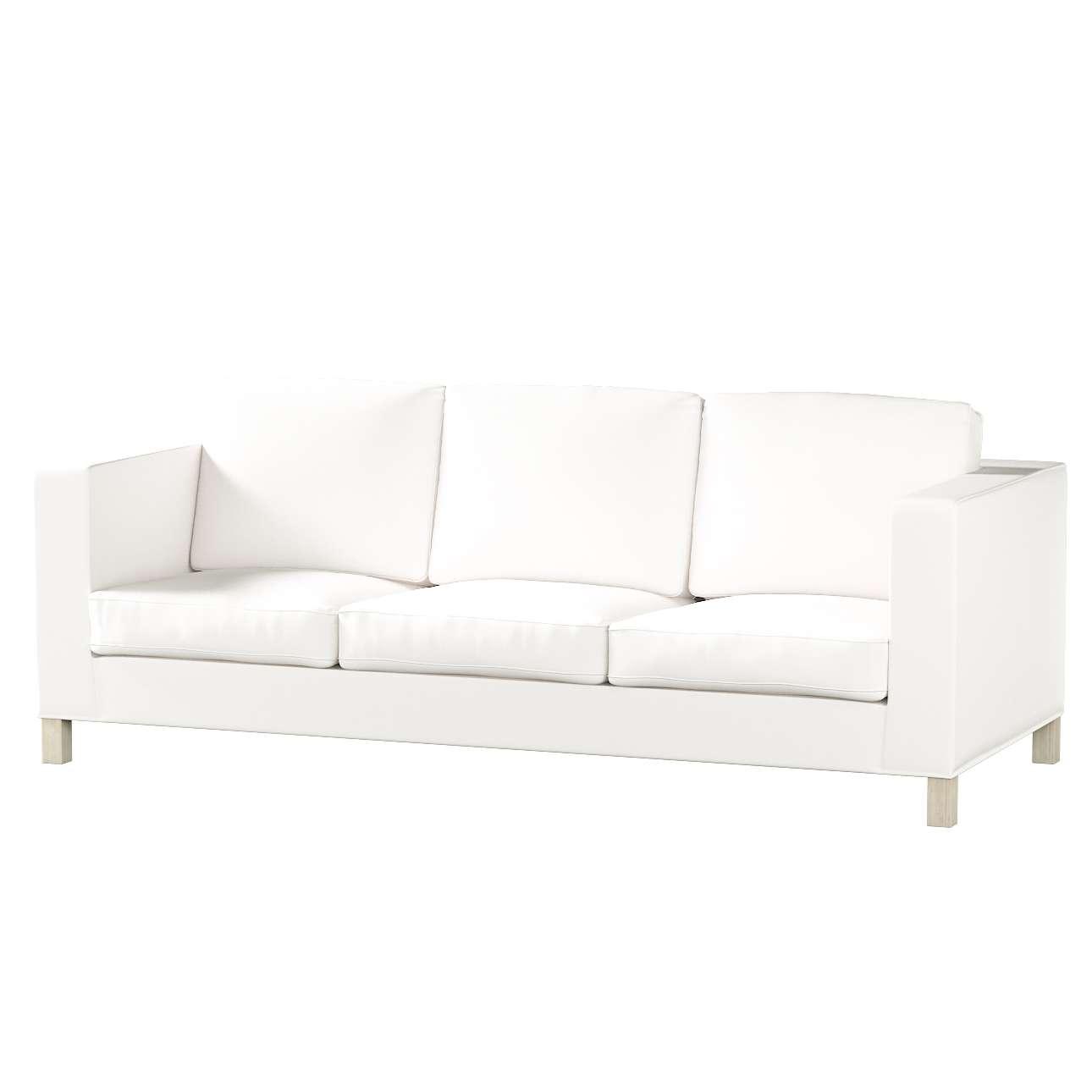 Potah na pohovku IKEA  Karlanda 3-místná nerozkládací, krátký pohovka Karlanda 3-os v kolekci Cotton Panama, látka: 702-34