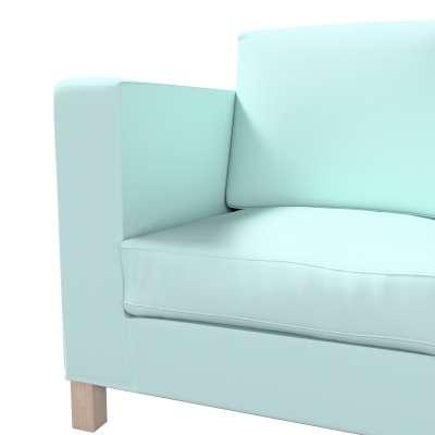 Bezug für Karlanda 3-Sitzer Sofa nicht ausklappbar, kurz von der Kollektion Cotton Panama, Stoff: 702-10