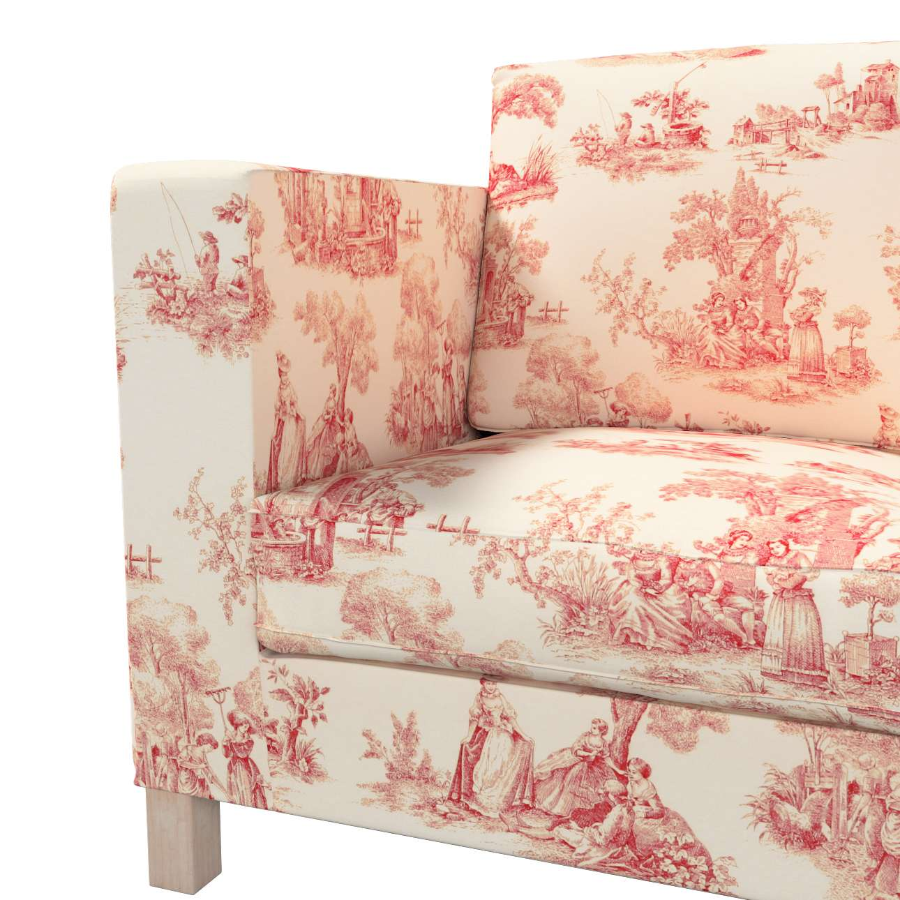 Bezug für Karlanda 3-Sitzer Sofa nicht ausklappbar, kurz von der Kollektion Avinon, Stoff: 132-15