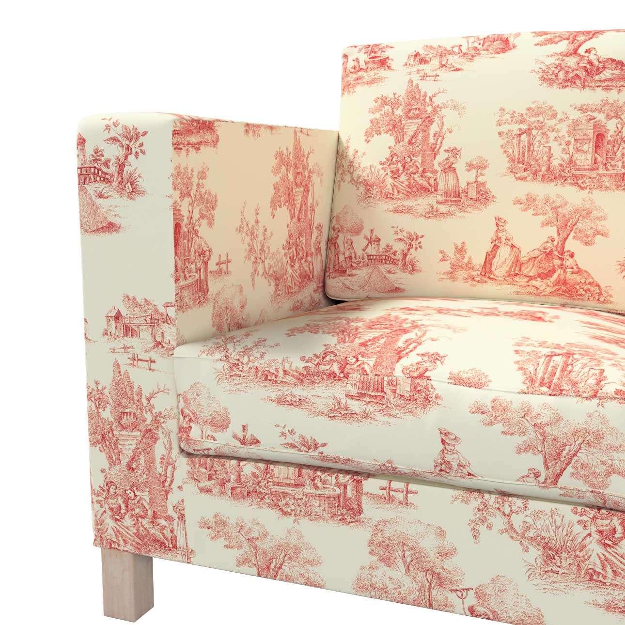Pokrowiec na sofę Karlanda 3-osobową nierozkładaną, krótki w kolekcji Avinon, tkanina: 132-15