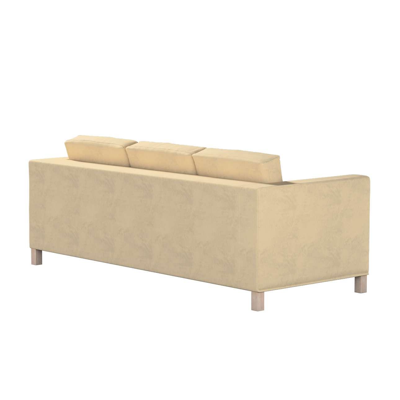 Pokrowiec na sofę Karlanda 3-osobową nierozkładaną, krótki w kolekcji Living II, tkanina: 160-82