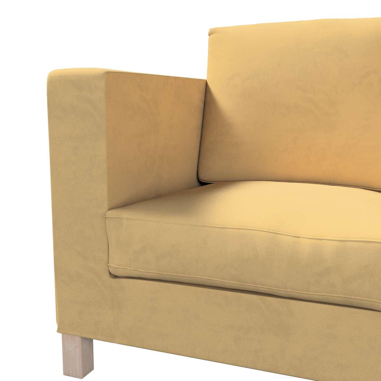 Pokrowiec na sofę Karlanda 3-osobową nierozkładaną, krótki w kolekcji Living, tkanina: 160-93