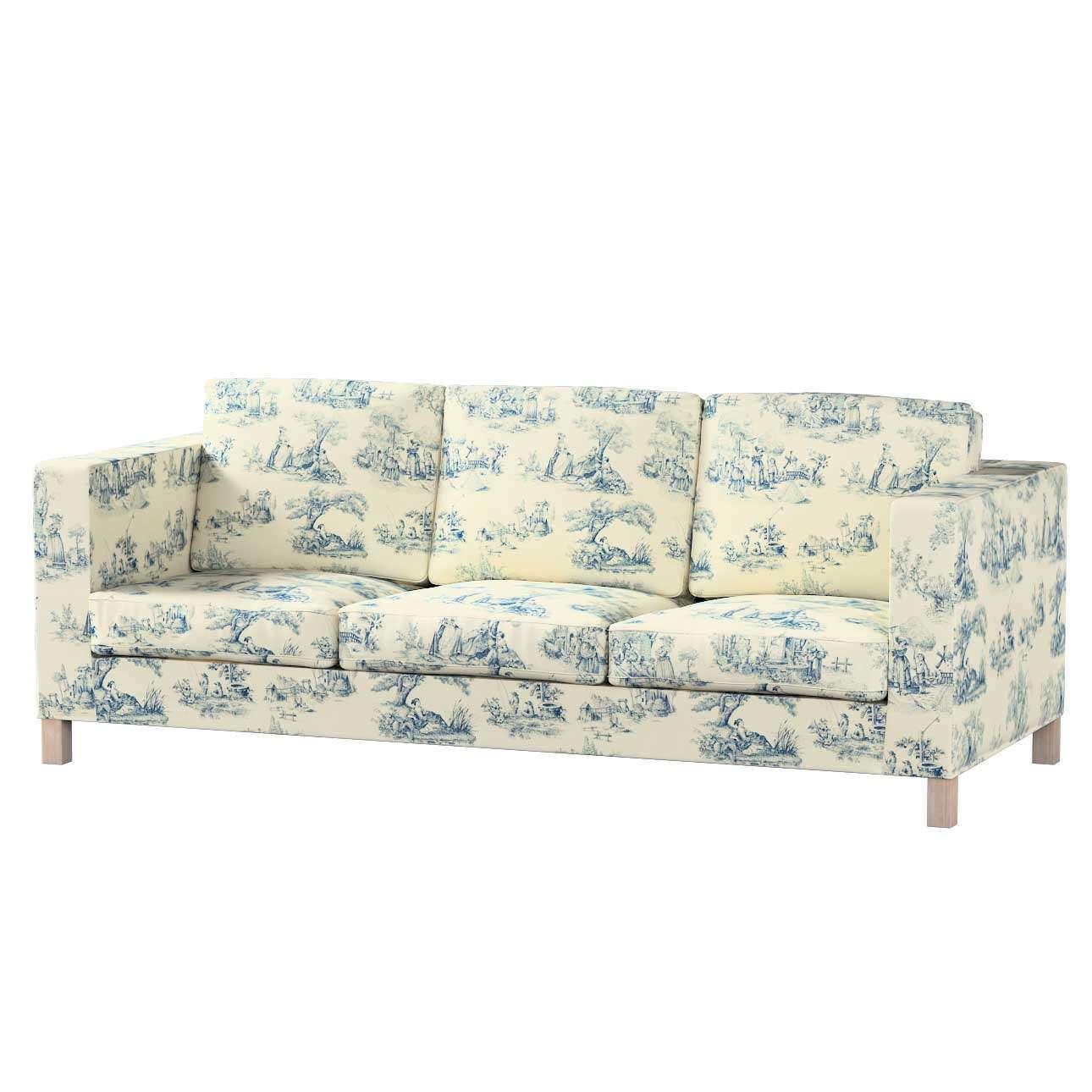 Pokrowiec na sofę Karlanda 3-osobową nierozkładaną, krótki Sofa Karlanda 3-os w kolekcji Avinon, tkanina: 132-66