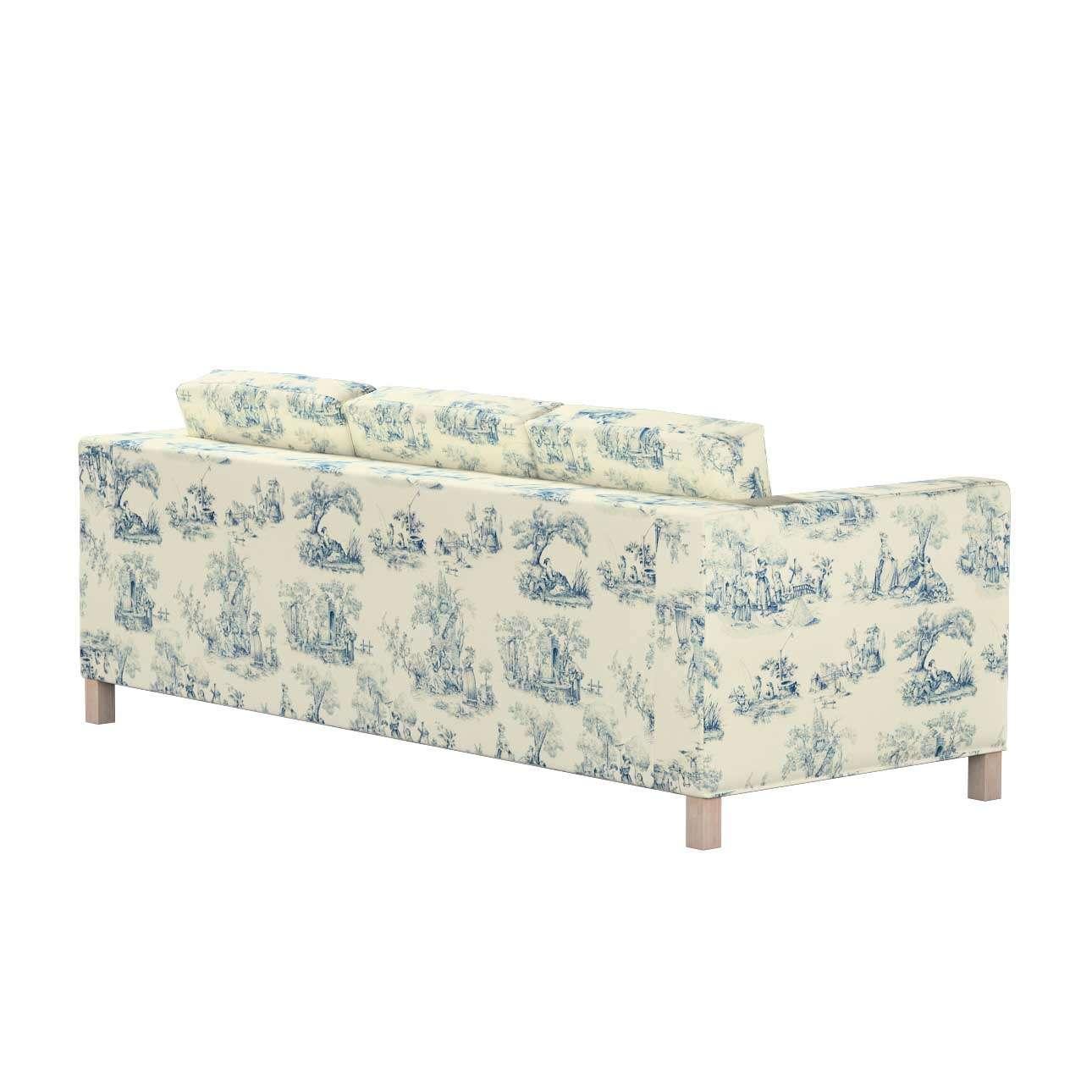 Pokrowiec na sofę Karlanda 3-osobową nierozkładaną, krótki w kolekcji Avinon, tkanina: 132-66